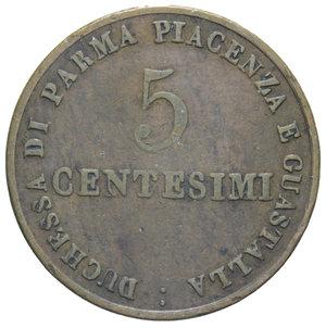 R/ DUCATO DI PARMA MARIA LUIGIA 5 CENT. 1830 9,42 GR. BB