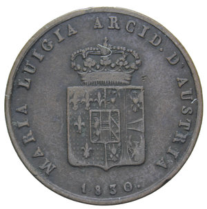 D/ DUCATO DI PARMA MARIA LUIGIA 3 CENT. 1830 RR 5,64 GR. BB/BB+