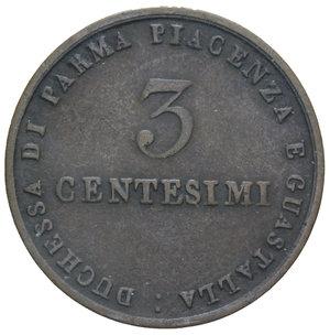 R/ DUCATO DI PARMA MARIA LUIGIA 3 CENT. 1830 RR 5,64 GR. BB/BB+