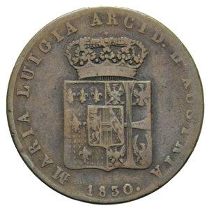 D/ DUCATO DI PARMA MARIA LUIGIA 5 CENT. 1830 9,18 GR. BB