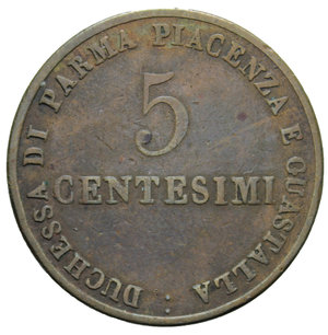 R/ DUCATO DI PARMA MARIA LUIGIA 5 CENT. 1830 9,18 GR. BB
