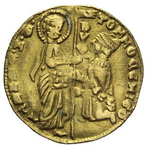 D/ VENEZIA TOMMASO MOCENIGO 1414-1423 ZECCHINO AU 3,48 GR. qBB (APPICCAGNOLO RIMOSSO)