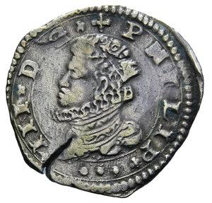 D/ REGNO DI SICILIA FILIPPO III MESSINA 3 TARI' 1616 IP AG. 7,71 GR. BB