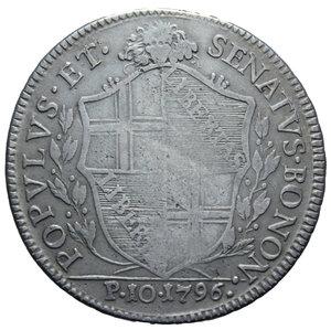 R/ GOVERNO POPOLARE DI BOLOGNA SCUDO 10 PAOLI 1796 BOLOGNA NC AG.28,58 GR. MB-BB