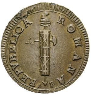 D/ PRIMA REPUBBLICA ROMANA 2 BAIOCCHI (1799) ANCONA R 14,78 GR. BB-SPL