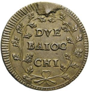R/ PRIMA REPUBBLICA ROMANA 2 BAIOCCHI (1799) ANCONA R 14,78 GR. BB-SPL