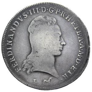 D/ GRANDUCATO DI TOSCANA FERDINANDO III FRANCESCONE 1799 AG. 27,05 GR. MB/qBB