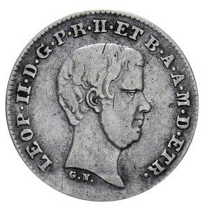 D/ GRANDUCATO DI TOSCANA LEOPOLDO II 1/2 PAOLO 1857 AG. 1,28 GR. BB