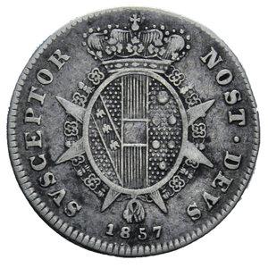 R/ GRANDUCATO DI TOSCANA LEOPOLDO II 1/2 PAOLO 1857 AG. 1,28 GR. BB
