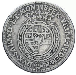 reverse: CARLO EMANUELE III 1/4 DI SCUDO 1756 AG. 8,80 GR. qBB