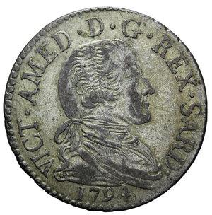 obverse: VITT. AMEDEO III 20 SOLDI 1794 5,50 GR. BB