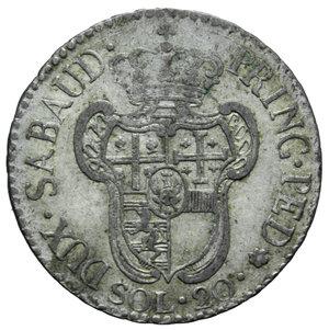 reverse: VITT. AMEDEO III 20 SOLDI 1794 5,50 GR. BB