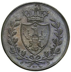 obverse: CARLO FELICE 5 CENT. 1826 GENOVA 10 GR. qFDC