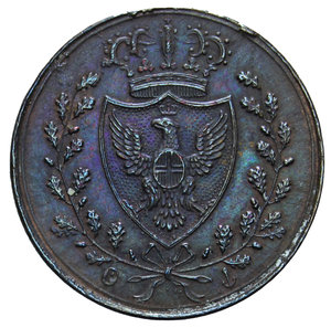 obverse: CARLO FELICE 1 CENT. 1826 TORINO AG. 1,94 GR. BB+/qSPL