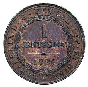 reverse: CARLO FELICE 1 CENT. 1826 TORINO AG. 1,94 GR. BB+/qSPL