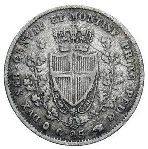 reverse: CARLO FELICE 25 CENT. 1830 TORINO RR AG. 1,20 GR. BB