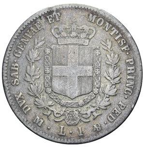 reverse: VITT. EMANUELE II 1 LIRA 1860 MILANO NC AG. 4,71 GR. MB+/qBB