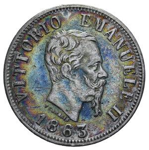 obverse: VITT. EMANUELE II 50 CENT. 1863 NAPOLI VALORE AG. 2,5 GR. BB