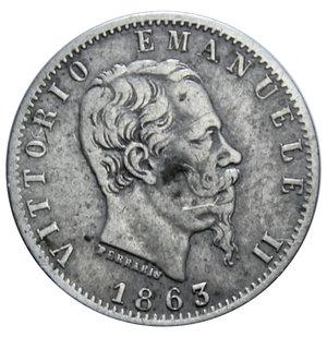obverse: VITT. EMANUELE II 20 CENT. 1863 TORINO AG. 1 GR. BB