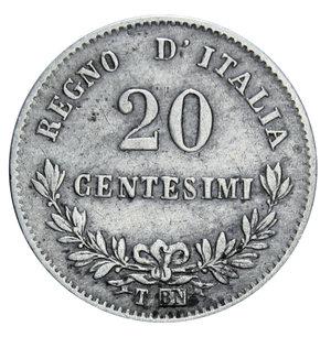 reverse: VITT. EMANUELE II 20 CENT. 1863 TORINO AG. 1 GR. BB
