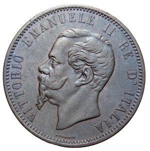 obverse: VITT. EMANUELE II 10 CENT. 1862 MILANO 9,96 GR. qSPL/SPL