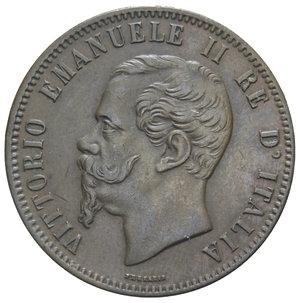 obverse: VITT. EMANUELE II 10 CENT. 1863 STRASBURGO 9,87 GR. qSPL