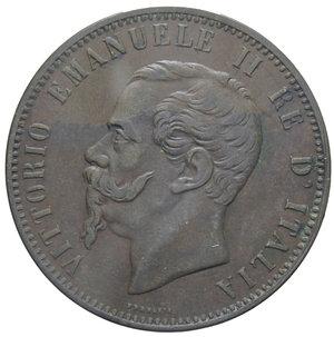 obverse: VITT. EMANUELE II 10 CENT. 1866 TORINO 9,90 GR. BB+
