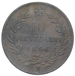 reverse: VITT. EMANUELE II 10 CENT. 1866 TORINO 9,90 GR. BB+