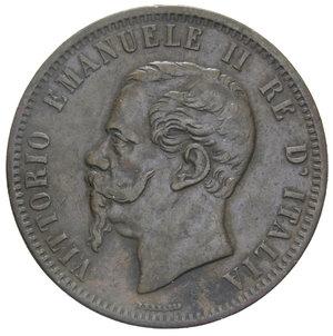obverse: VITT. EMANUELE II 10 CENT. 1866 NAPOLI 10,09 GR. BB/BB+