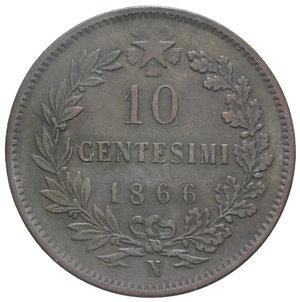 reverse: VITT. EMANUELE II 10 CENT. 1866 NAPOLI 10,09 GR. BB/BB+