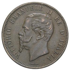 obverse: VITT. EMANUELE II 10 CENT. 1866 MILANO 9,68 GR. BB-SPL
