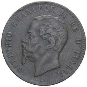 obverse: VITT. EMANUELE II 10 CENT. 1867 BRUXELLES 9,76 GR. BB