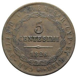reverse: VITT. EMANUELE II 5 CENT. 1826 BOLOGNA 10,16 GR. BB