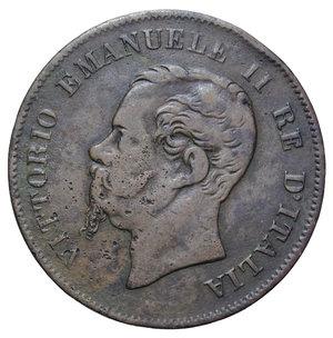 obverse: VITT. EMANUELE II 5 CENT. 1861 BOLOGNA RR 4,52 GR. MB-BB