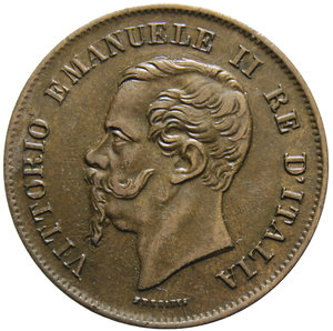 obverse: VITT. EMANUELE II 5 CENT. 1861 MILANO 4,94 GR. qSPL