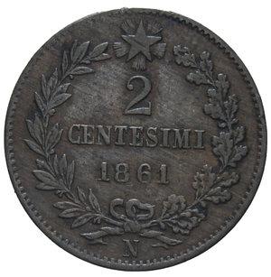 reverse: VITT. EMANUELE II 2 CENT. 1861 NAPOLI R 2 GR. BB/BB+