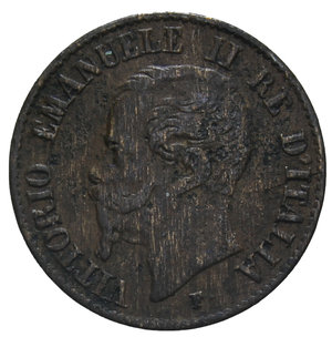 obverse: VITT. EMANUELE II 1 CENT. 1861 MILANO 1 GR. BB