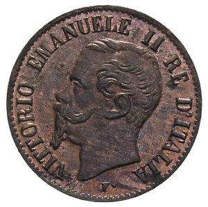 obverse: VITT. EMANUELE II 1 CENT. 1867 MILANO 1 GR. FDC