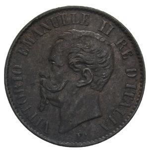 obverse: VITT. EMANUELE II 1 CENT. 1867 TORINO RR 1 GR. BB+/BB