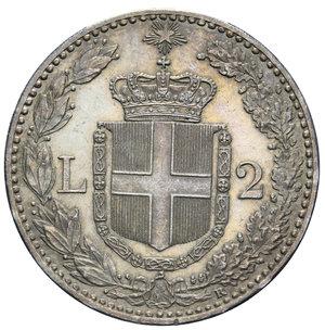 reverse: UMBERTO I 2 LIRE 1897 NC AG. 9,99 GR. SPL-FDC