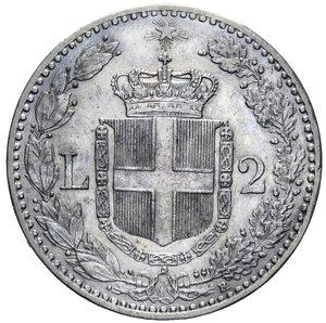 reverse: UMBERTO I 2 LIRE 1899 NC AG. 9,95 GR. SPL