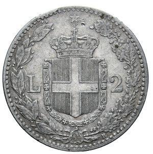 reverse: UMBERTO I 2 LIRE 1899 AG. 9,89 GR. BB