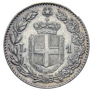 reverse: UMBERTO I 1 LIRA 1887 AG. 5 GR. qSPL
