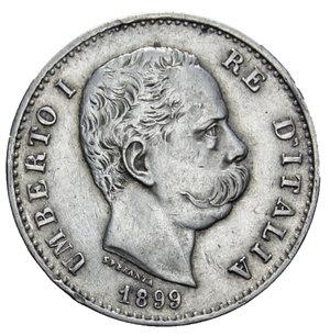 obverse: UMBERTO I 1 LIRA 1899 AG. 4,99 GR. BB/BB+