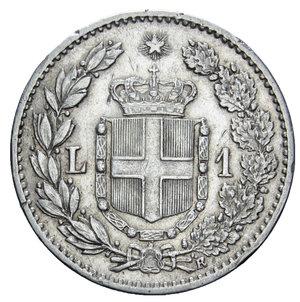 reverse: UMBERTO I 1 LIRA 1899 AG. 4,99 GR. BB/BB+