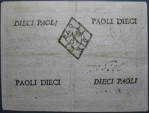 obverse: REPUBBLICA ROMANA 10 PAOLI AN.7 BB+