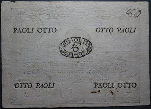 obverse: REPUBBLICA ROMANA 8 PAOLI AN.7 BB-SPL