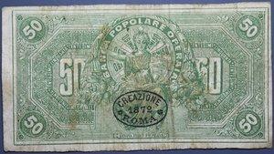 obverse: BANCA POPOLARE OPERAIA 50 CENT. 1872 qBB