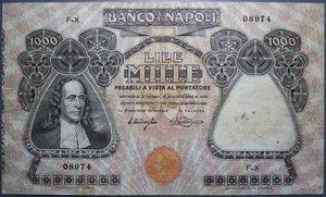 obverse: BANCO DI NAPOLI 1000 LIRE 30/1/1920 NC BB (FORI)