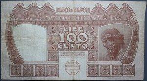 obverse: BANCO DI NAPOLI 100 LIRE 13/12/1914 NC BB+